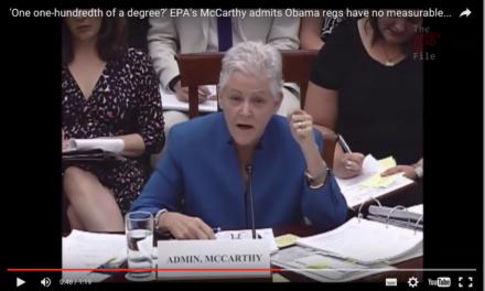 """US Klimaregulierungen der EPA sollen """"Führung"""" zeigen, nicht die globale Erwärmung bekämpfen"""