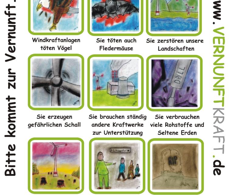Warnung an Bürgerinitiativen gegen Windräder – Ergänzung