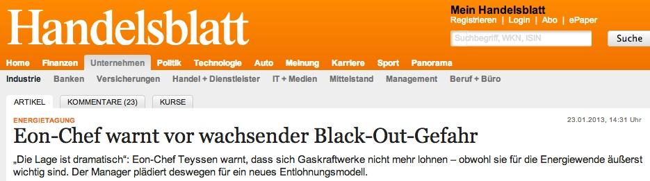 Die GroKo macht ernst: Notfallvorsorge für den selbst verantworteten und gemachten Blackout wird bald Gesetz.