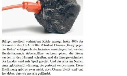 Kohle muss in einen Krieg um alles oder nichts gegen Öko-Tyrannen ziehen
