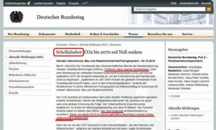 PIK Chef Schellnhuber irrte schon wieder: 2 ° Ziel nicht völkerrechtlich verbindlich