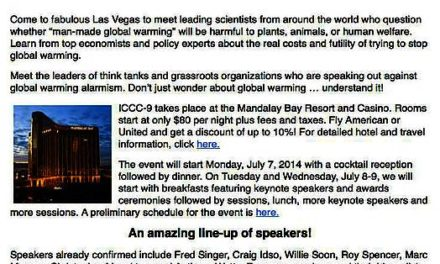 9. Internationale Konferenz über den Klimawandel in Las Vegas
