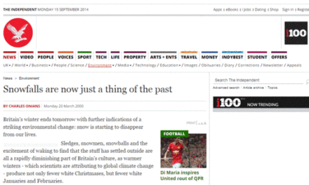 Eine der grandiosesten Klimaprophezeiungs-Fehlleistungen ist aus dem Internet verschwunden