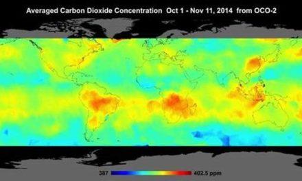 Endlich: Visualisierte CO2-Satellitendaten, die die globalen CO2-Konzentrationen zeigen