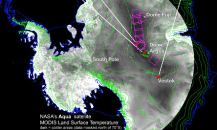 Tiefste Temperatur der Erde, die jemals in der Antarktis gemessen wurde