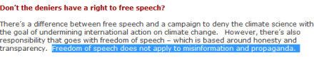 Klima: Keine freie Rede (No Climate Free Speech, Part 1)