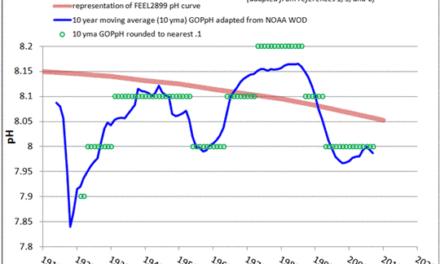Argumente der Messgenauigkeit des pH-Gehaltes der Ozeane wird von 80 Jahre langen instrumentellen Daten in Frage gestellt