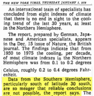 Globale Temperaturen sind meistens Schwindel