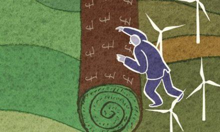 Windturbinen verschandeln die Landschaft zum Nutzen von Milliardären