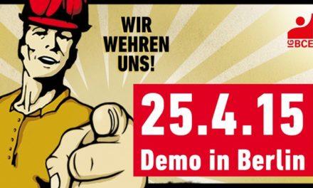 Mitmachen: Demonstration der Gewerkschaft Bergbau, Chemie, Energie gegen die Energiewende – der Anfang vom Ende der Energiewende?