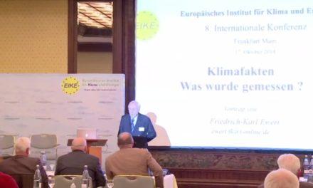 EIKE 8. IKEK Klimafakten – Was wurde gemessen? von Prof. Dr. Friedrich-Karl Ewert:
