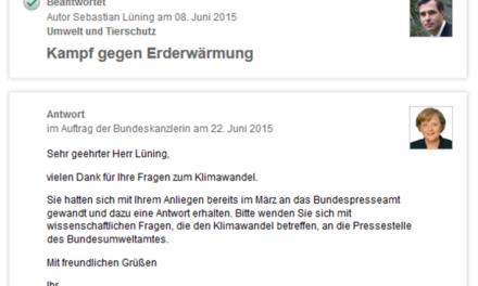"""Um Antwort wird gebeten: """"Kleine Anfrage"""" bei der Deutschen Bundesregierung zum Klimawandel"""