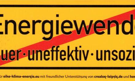 """""""Energiewende – teuer- uneffektiv- unsozial"""" Aufkleber wieder verfügbar!"""