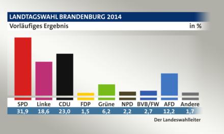 Landtagswahlen 2014- Energiewendegegner AfD gewinnen auf Anhieb 2 stellig Wählerstimmen