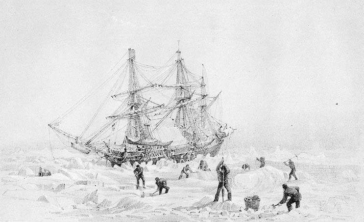 Schiff HMS Terror nach 170 Jahren im nördlichen Eis wieder aufgetaucht.