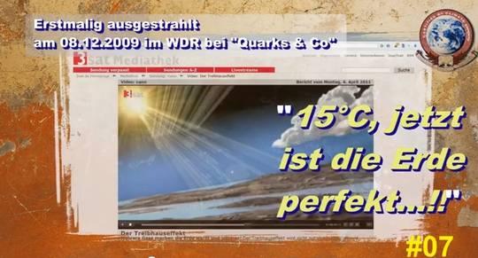 """""""Mit 15 °C ist die Erde perfekt"""", jetzt sollen nur 14,8 °C eine unerträgliche Erwärmung sein!"""