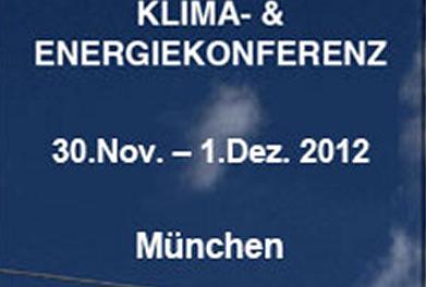 Vorankündigung: V. Internationale Klima & Energiekonferenz am 30.11-1.12.12  München