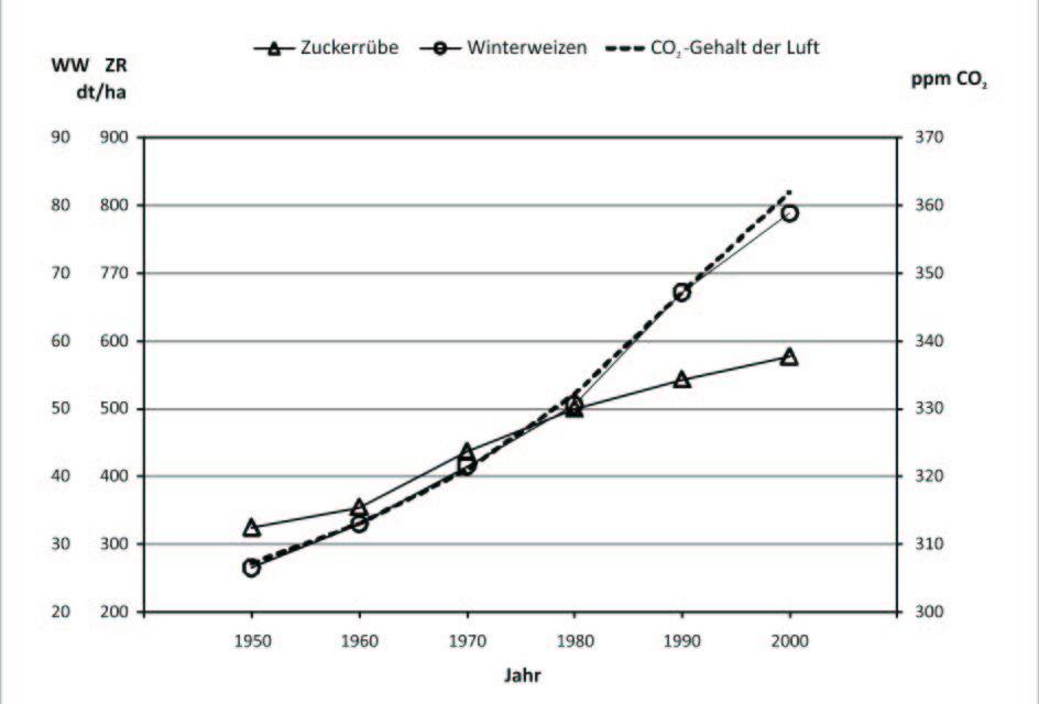 Mehr CO2 bedeutet Ertragsteigerung in der Landwirtschaft