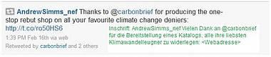 The Carbon Brief – ein weiterer Blog um Medien gezielt mit Alarmmeldungen zum Klima zu füttern.