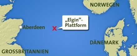 Gasleck bei Bohrinsel Elgin – anders als CCS (Carbon capture and storage) jedoch beherrschbar!