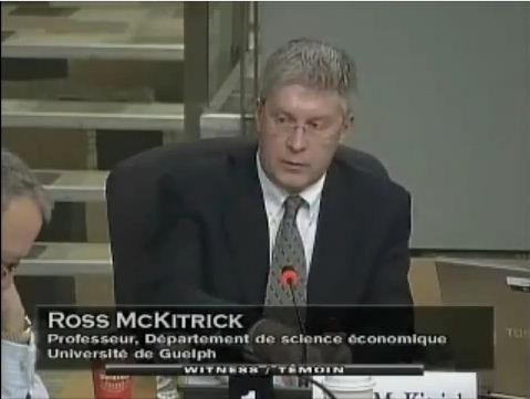 Ross McKittrick; prominenter Aufdecker des IPCC Hockeystick-Skandals in Berlin