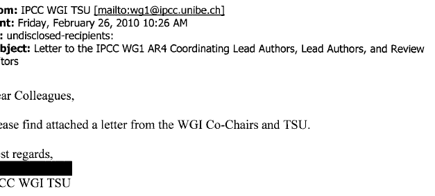 Der geheime Brief, den UEA und CRU uns allen vorenthalten will