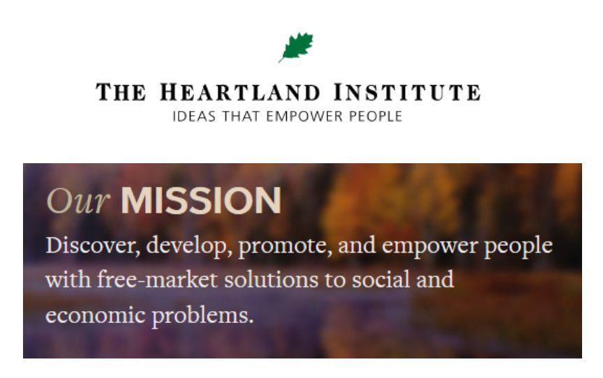 Rundbrief des Heartland Institute vom 6. Januar 2017