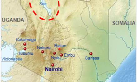 Drei-Königs Sternsinger Aktion 2017 gegen Klimawandel-Auswirkungen in Kenia: Seit 5000 Jahren besteht dort ein ununterbrochener Trend zum heutigen Klima, doch seit Kurzem ist der Westen daran schuld