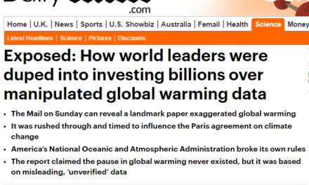 Mehr zum einschlägigen Artikel von David Rose: Instabilität im Global Historical Climate Network GHCN