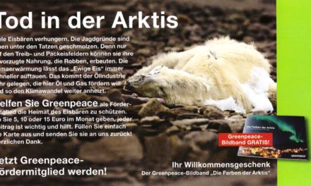 Für Spendengelder müssen Eisbären den Klimatod sterben