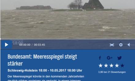 Land unter im Norden ab 2050 – oder: Pünktlich zur Tagung des UN-Klimasekretariats in Bonn steigt der (simulierte) Meeresspiegel verstärkt