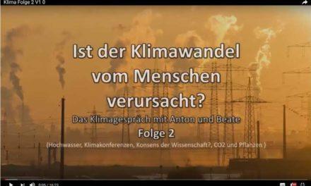 Eine erste komplette Fachinformation über Klima und Energie in Youtube – Teil 2