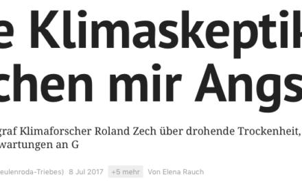 Viel heiße Luft aus Ostthüringen im Sommerloch: Die Halbwahrheiten des Professors Roland Zech