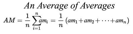 Die Gesetze der Mittelwerte: Teil 3, Der durchschnittliche Durchschnitt