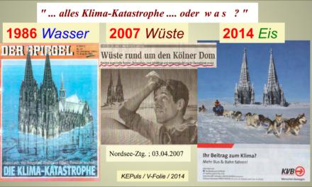 Deutschland erwärmt sich schneller als der Rest der Welt – oder etwa doch nicht ?