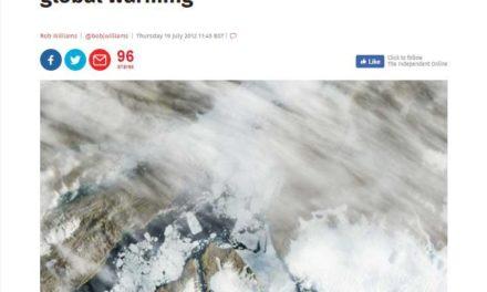 Ist noch erinnerlich, dass das Kalben des Petermann-Gletschers ein sicheres Anzeichen der ,globalen Erwärmung' war? Macht nichts