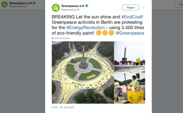 """Ökopax  Greenpeace darf alles – Fahrverbote etc – Fragwürdige Aktionen für den """"Klimaschutz"""""""