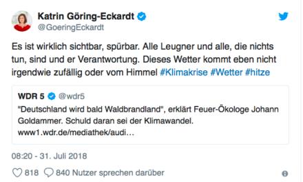 Klima-Nachrichten aus einem überhitzten Deutschland