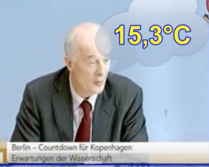 Ex-Klimaberater von Frau Merkel Prof. Schellnhuber (PIK) kann Bezugstemperatur der Pariser Klimaübereinkunft nicht beziffern.