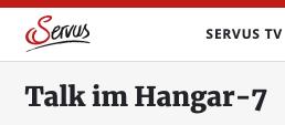 """EIKE zu Gast bei """"Talk im Hangar 7"""" – SERVUS TV"""