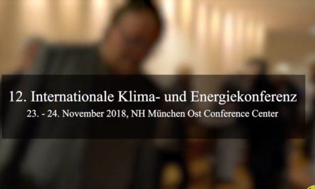 Impressionen 12. Internationale Klima- und Energiekonferenz am 23. und 24. November 2018 in München.