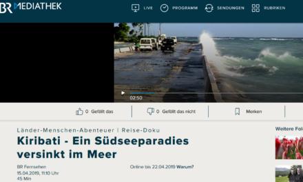 Kiribati versinkt wieder, das ist professionell recherchiert