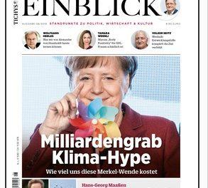 Vahrenholt: Merkels erhöhtes Klimaziel kostet Deutschland 3000 Milliarden Euro mehr