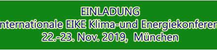 Die 13. Internationale Klima- und Energiekonferenz (13. IKEK) findet vom 22. auf den 23.11.19 in München statt.