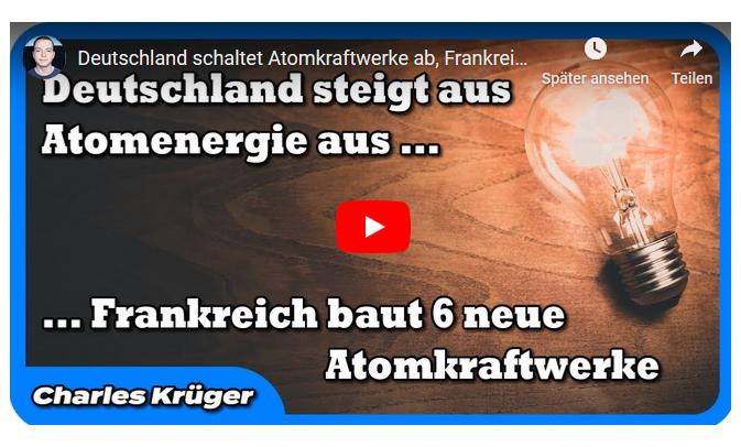 Deutschland schaltet Atomkraftwerke ab, Frankreich baut sechs neue