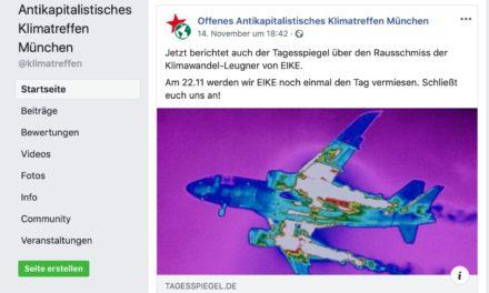 """+++ EIKE-Klimakonferenz München: """"Umweltschützer"""" erpressen Hotelleitung +++"""