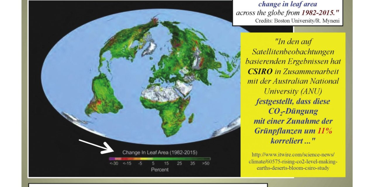 Der globale Kohlenstoff-Haushalt: schöne Zahlen, vorgetäuschtes Vertrauen, aber höchst fragwürdig (Teil 2)