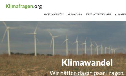 Klimafragen übergeben – Umgang mit dem Klimawandel – Mehrere Fraktionen wollen antworten