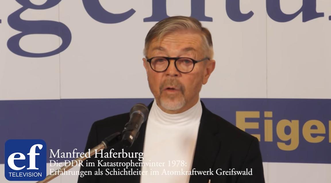 Manfred Haferburg: Blackoutgefahr in Deutschland. Ein Insider berichtet auf der  ef-Konferenz 2020
