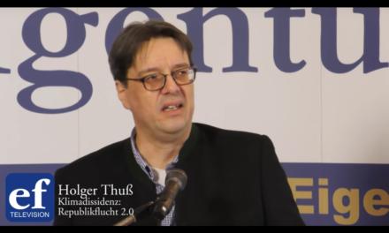 Holger Thuß: Republikflucht 2.0  auf der ef-Konferenz 2020